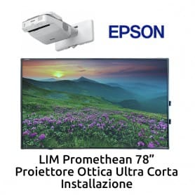"""Promethean 78""""+ Ultra corto EPSON EB-680 + installazione"""