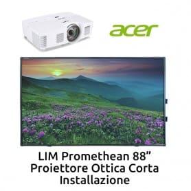"""Promethean 88""""+ ACER S1383WHNE Ottica Corta + Installazione"""