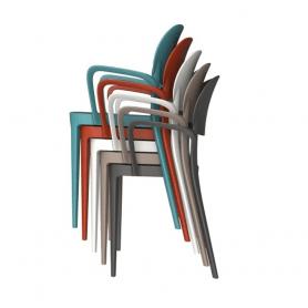 Sedie Alma Amy con braccioli vari colori – scatola 4 sedute