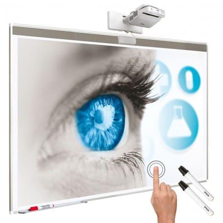 Kit interattivo: lavagna bianca 100''+ EB-680Wi + installazione