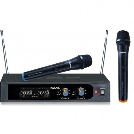 Karma radiomicrofono PRO doppia banda 2 microfoni palmari