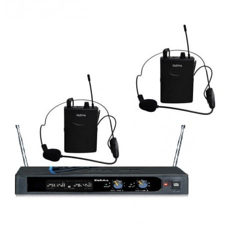 Karma radiomicrofono PRO doppia banda 2 Microfoni archetti