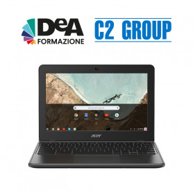 "C722 MediaTek MT8183 4gb 64eMMC 11,6"" HD Chrome OS + Corso DeA Scuola base"