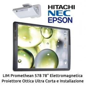 """KIT LIM Promethean 578 78"""" - Proiettore Ultra Corto e Installazione"""