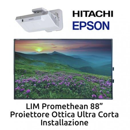 """KIT LIM Promethean 88"""" - Proiettore Ultra Corto e Installazione"""